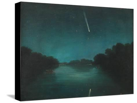 The Great Comet of 1861 as Seen from Staines Bridge, Middlesex--Stretched Canvas Print