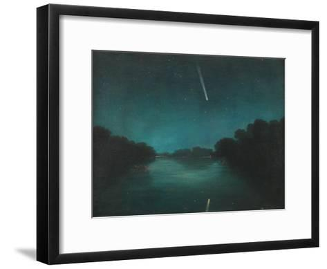 The Great Comet of 1861 as Seen from Staines Bridge, Middlesex--Framed Art Print