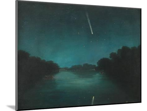 The Great Comet of 1861 as Seen from Staines Bridge, Middlesex--Mounted Giclee Print
