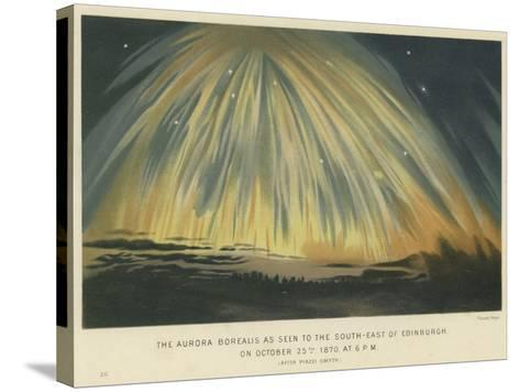 The Aurora Borealis as Seen to the South-East of Edinburgh--Stretched Canvas Print