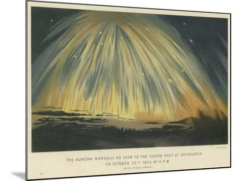 The Aurora Borealis as Seen to the South-East of Edinburgh--Mounted Giclee Print