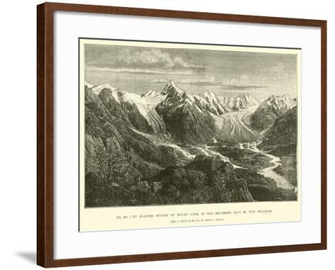The Glacier System of Mount Cook, in the Southern Alps of New Zealand--Framed Art Print