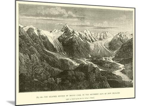 The Glacier System of Mount Cook, in the Southern Alps of New Zealand--Mounted Giclee Print