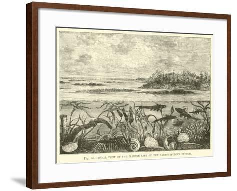 Ideal View of the Marine Life of the Carboniferous System--Framed Art Print