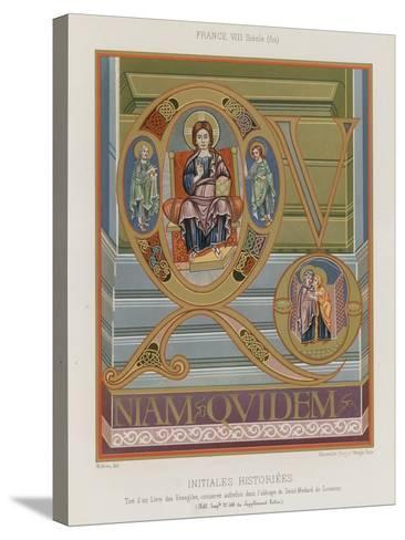 Initials from an 8th-Century Illuminated Manuscript--Stretched Canvas Print