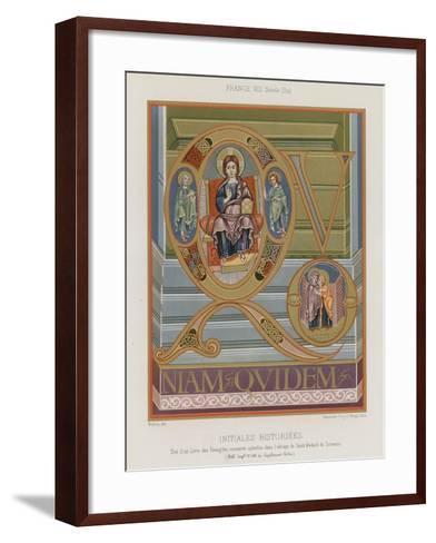 Initials from an 8th-Century Illuminated Manuscript--Framed Art Print