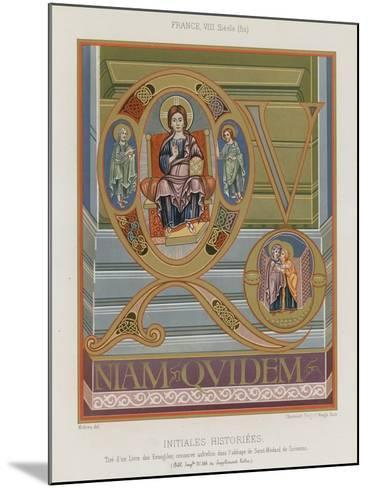 Initials from an 8th-Century Illuminated Manuscript--Mounted Giclee Print
