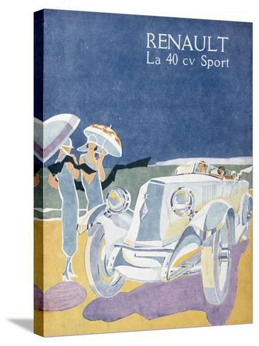 Advertisement for the Renault 40CV Sport, from 'Femina', July 1925--Stretched Canvas Print
