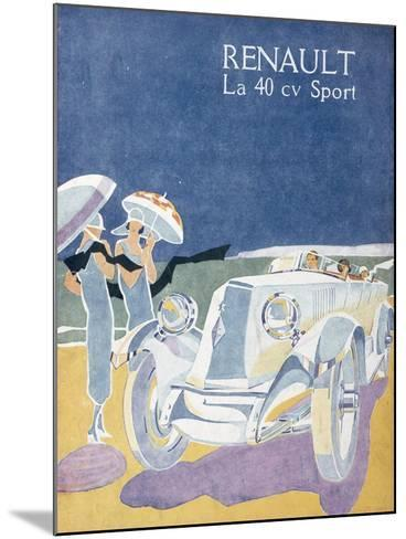 Advertisement for the Renault 40CV Sport, from 'Femina', July 1925--Mounted Giclee Print