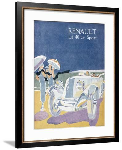 Advertisement for the Renault 40CV Sport, from 'Femina', July 1925--Framed Art Print