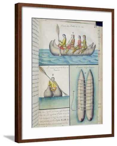 Indians of the South Seas Using Boats Called 'Balds'--Framed Art Print
