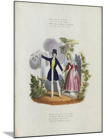 British Valentine Card with an Image of a Man and a Woman Holding Hands--Mounted Giclee Print