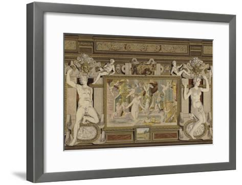 Fresco in the Chateau De Fontainebleau, France, 16th Century--Framed Art Print