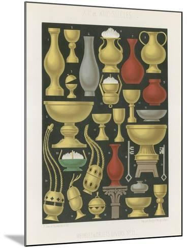 Furniture and Various Objects of the 12th and 13th Centuries--Mounted Giclee Print