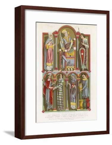 Figures of a King, Minister, Palace Guard, Noblewoman and a Servant--Framed Art Print