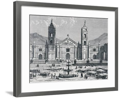 Plaza Mayor and Cathedral of Arequipa, Peru, 1880S--Framed Art Print