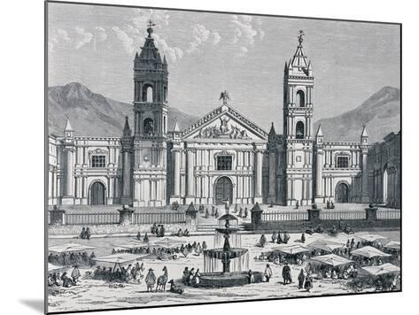Plaza Mayor and Cathedral of Arequipa, Peru, 1880S--Mounted Giclee Print