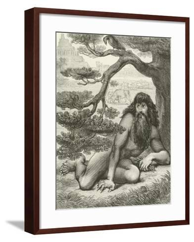 Nebuchadnezzar Dwelling with the Beasts of the Field--Framed Art Print