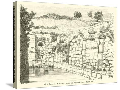 The Pool of Siloam, Near to Jerusalem, John, IX, 7--Stretched Canvas Print