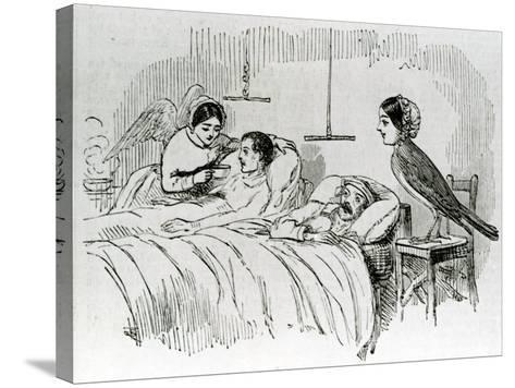 Florence Nightingale and One of Her Ministering Angels in the Crimea--Stretched Canvas Print
