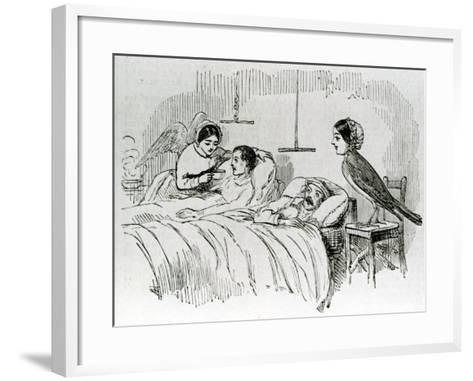 Florence Nightingale and One of Her Ministering Angels in the Crimea--Framed Art Print