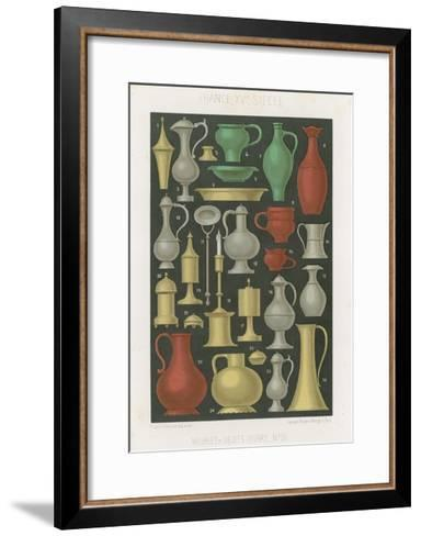 Furniture and Various Objects of the 12th and 13th Centuries--Framed Art Print