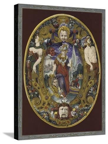 Enamelled Escutcheon Painted by Jean Decourt, 16th Century--Stretched Canvas Print