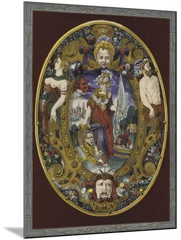 Enamelled Escutcheon Painted by Jean Decourt, 16th Century--Mounted Giclee Print