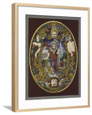 Enamelled Escutcheon Painted by Jean Decourt, 16th Century--Framed Art Print