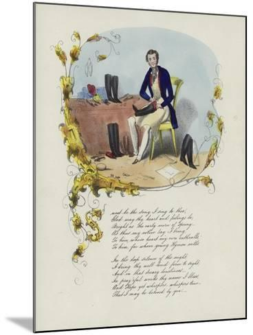 British Valentine Card with an Image of a Man Reparing Boots--Mounted Giclee Print