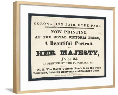 Advertisement for Printed Portraits of Queen Victoria--Framed Art Print