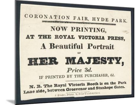 Advertisement for Printed Portraits of Queen Victoria--Mounted Giclee Print