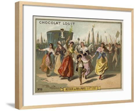 Return of King Louis XVI to Paris, French Revolution, 6 October 1789--Framed Art Print