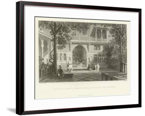 Court of a Turkish Country House, Salahyeh, Near Damascus, 1837--Framed Art Print