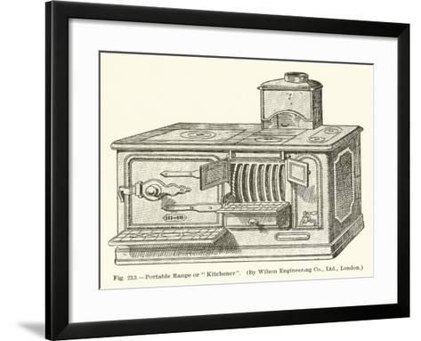 """Portable Range or """"Kitchener""""--Framed Art Print"""