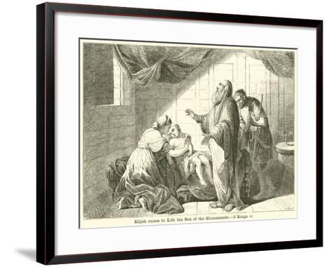 Elijah Raises to Life the Son of the Shunammite, 2 Kings, IV--Framed Art Print