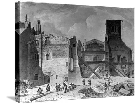 Demolition of the Savoy Palace, Westminster, London, 1820--Stretched Canvas Print
