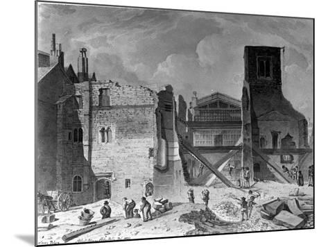 Demolition of the Savoy Palace, Westminster, London, 1820--Mounted Giclee Print