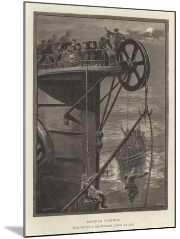Modern Science, Picking Up a Telegraph Cable at Sea--Mounted Giclee Print