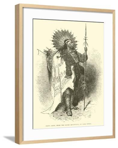 Crow Chief, from the Rocky Mountains, in Gala Dress--Framed Art Print