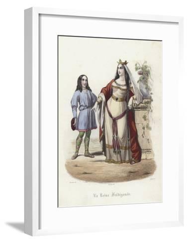 Fredegund, Queen Consort of Chilperic I, Frankish King of Neustria--Framed Art Print