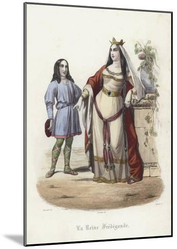 Fredegund, Queen Consort of Chilperic I, Frankish King of Neustria--Mounted Giclee Print