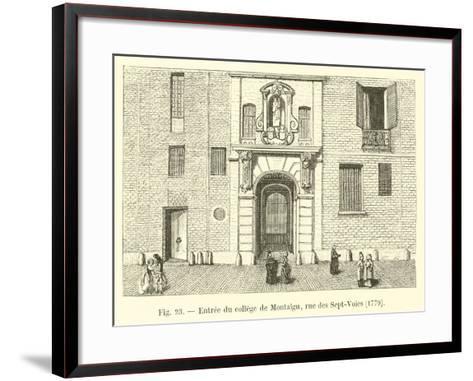 Entree Du College De Montaigu, Rue Des Sept-Voies, 1779--Framed Art Print