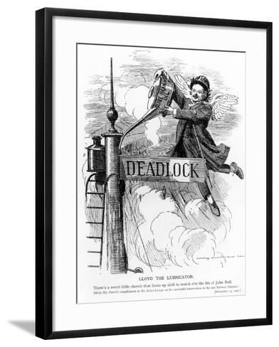 Lloyd the Lubricator, from Punch Magazine, November 13, 1907--Framed Art Print