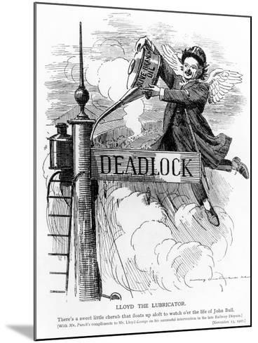 Lloyd the Lubricator, from Punch Magazine, November 13, 1907--Mounted Giclee Print