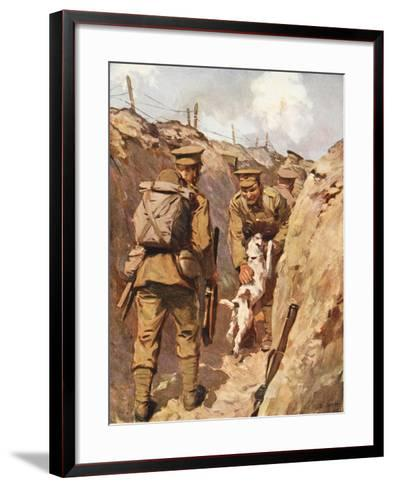 The Wanderer Sprang Towards His Master with Delight--Framed Art Print