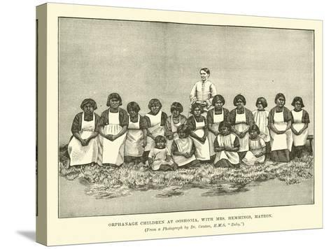 Orphanage Children at Ooshooia, with Mrs Hemmings, Matron--Stretched Canvas Print
