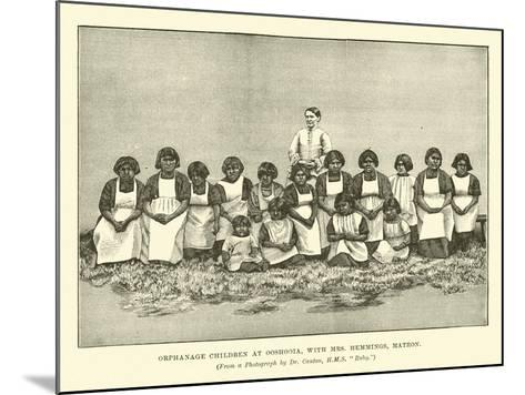 Orphanage Children at Ooshooia, with Mrs Hemmings, Matron--Mounted Giclee Print