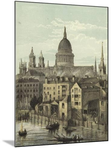 St Paul's Cathedral, View of the Southern Front from Southwark Bridge--Mounted Giclee Print