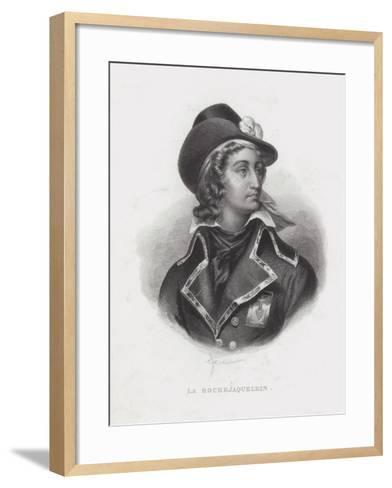 Henri De La Rochejaquelein, French Royalist General of the Vendee Revolt--Framed Art Print